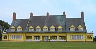 The historic Whalehead Club in Corolla on the Outer Banks of NC